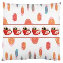 Strawberries Large Cushion Case (one Side)