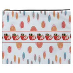 Strawberries Cosmetic Bag (xxxl)  by SuperPatterns