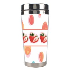 Strawberries Stainless Steel Travel Tumblers by SuperPatterns
