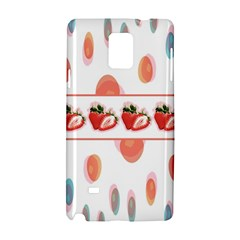 Strawberries Samsung Galaxy Note 4 Hardshell Case by SuperPatterns