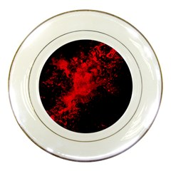 Red Smoke Porcelain Plates by berwies