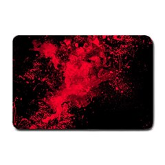Red Smoke Small Doormat  by berwies