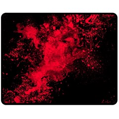 Red Smoke Fleece Blanket (medium)  by berwies