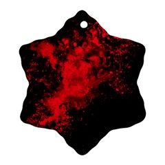 Red Smoke Snowflake Ornament (two Sides) by berwies