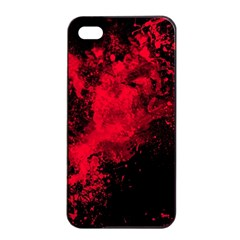 Red Smoke Apple Iphone 4/4s Seamless Case (black) by berwies
