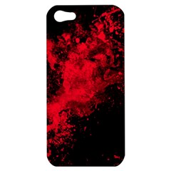 Red Smoke Apple Iphone 5 Hardshell Case by berwies