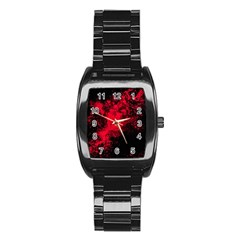 Red Smoke Stainless Steel Barrel Watch by berwies