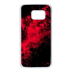 Red Smoke Samsung Galaxy S7 White Seamless Case by berwies