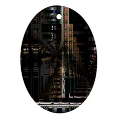 Blacktechnology Circuit Board Electronic Computer Ornament (oval) by BangZart