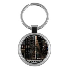 Blacktechnology Circuit Board Electronic Computer Key Chains (round)  by BangZart
