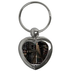 Blacktechnology Circuit Board Electronic Computer Key Chains (heart)  by BangZart