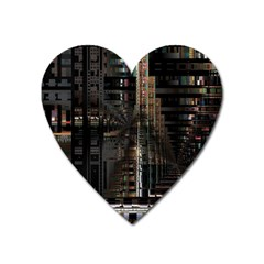 Blacktechnology Circuit Board Electronic Computer Heart Magnet by BangZart