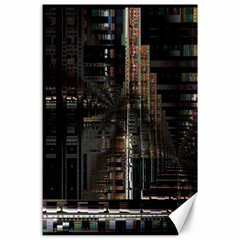 Blacktechnology Circuit Board Electronic Computer Canvas 24  X 36  by BangZart