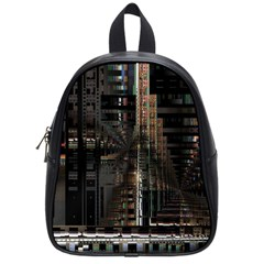 Blacktechnology Circuit Board Electronic Computer School Bags (small)