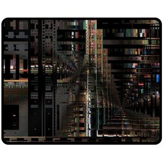 Blacktechnology Circuit Board Electronic Computer Double Sided Fleece Blanket (medium)  by BangZart