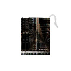 Blacktechnology Circuit Board Electronic Computer Drawstring Pouches (xs)  by BangZart