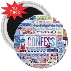 Book Collage Based On Confess 3  Magnets (10 Pack)
