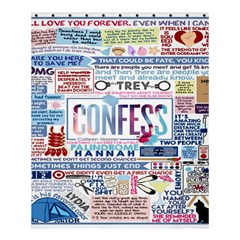 Book Collage Based On Confess Shower Curtain 60  X 72  (medium)  by BangZart