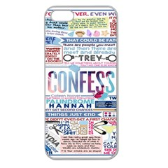 Book Collage Based On Confess Apple Seamless Iphone 5 Case (clear)