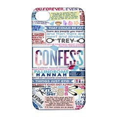 Book Collage Based On Confess Apple Iphone 4/4s Hardshell Case With Stand