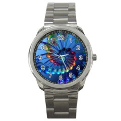 Top Peacock Feathers Sport Metal Watch