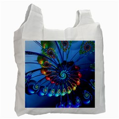 Top Peacock Feathers Recycle Bag (one Side) by BangZart