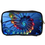 Top Peacock Feathers Toiletries Bags 2-Side Front