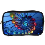 Top Peacock Feathers Toiletries Bags 2-Side Back