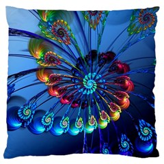 Top Peacock Feathers Large Cushion Case (two Sides)