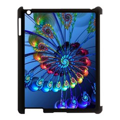 Top Peacock Feathers Apple Ipad 3/4 Case (black) by BangZart