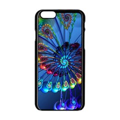 Top Peacock Feathers Apple Iphone 6/6s Black Enamel Case