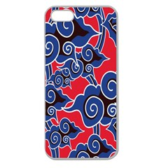 Batik Background Vector Apple Seamless Iphone 5 Case (clear) by BangZart