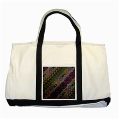 Batik Art Pattern  Two Tone Tote Bag
