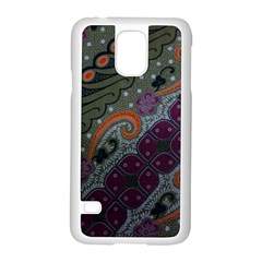 Batik Art Pattern  Samsung Galaxy S5 Case (white)