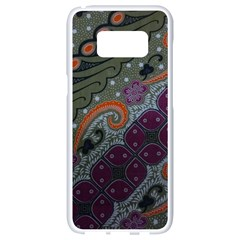 Batik Art Pattern  Samsung Galaxy S8 White Seamless Case by BangZart