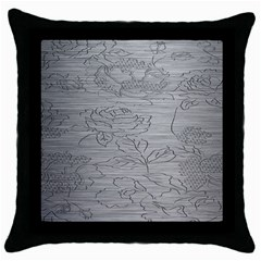 Embossed Rose Pattern Throw Pillow Case (black) by BangZart
