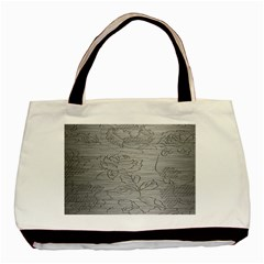 Embossed Rose Pattern Basic Tote Bag by BangZart