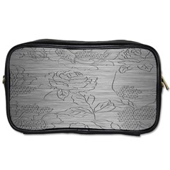 Embossed Rose Pattern Toiletries Bags