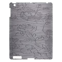 Embossed Rose Pattern Apple Ipad 3/4 Hardshell Case by BangZart