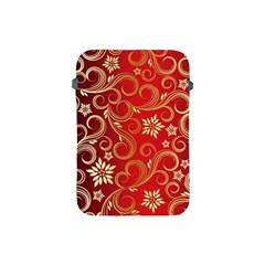 Golden Swirls Floral Pattern Apple Ipad Mini Protective Soft Cases by BangZart