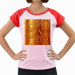 Golden Pattern Vintage Gradient Vector Women s Cap Sleeve T Shirt