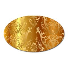 Golden Pattern Vintage Gradient Vector Oval Magnet by BangZart
