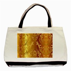 Golden Pattern Vintage Gradient Vector Basic Tote Bag by BangZart