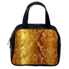 Golden Pattern Vintage Gradient Vector Classic Handbags (one Side) by BangZart
