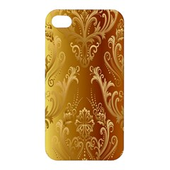 Golden Pattern Vintage Gradient Vector Apple Iphone 4/4s Hardshell Case by BangZart