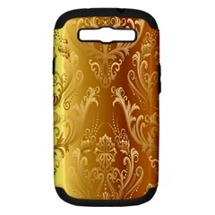 Golden Pattern Vintage Gradient Vector Samsung Galaxy S Iii Hardshell Case (pc+silicone)