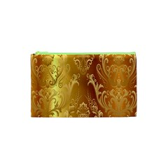 Golden Pattern Vintage Gradient Vector Cosmetic Bag (xs) by BangZart