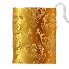Golden Pattern Vintage Gradient Vector Drawstring Pouches (xxl)