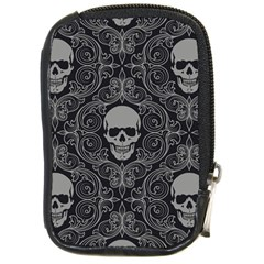 Dark Horror Skulls Pattern Compact Camera Cases by BangZart