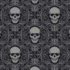Dark Horror Skulls Pattern Magic Photo Cubes